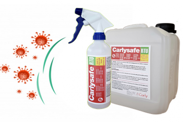 New virucidal disinfectant CARLYSAFE-RTU